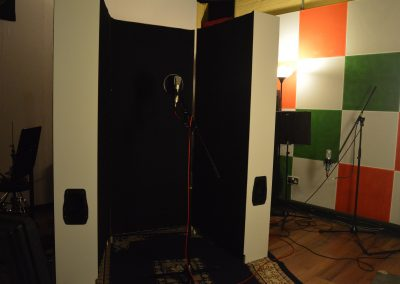 Completed vocal booth top
